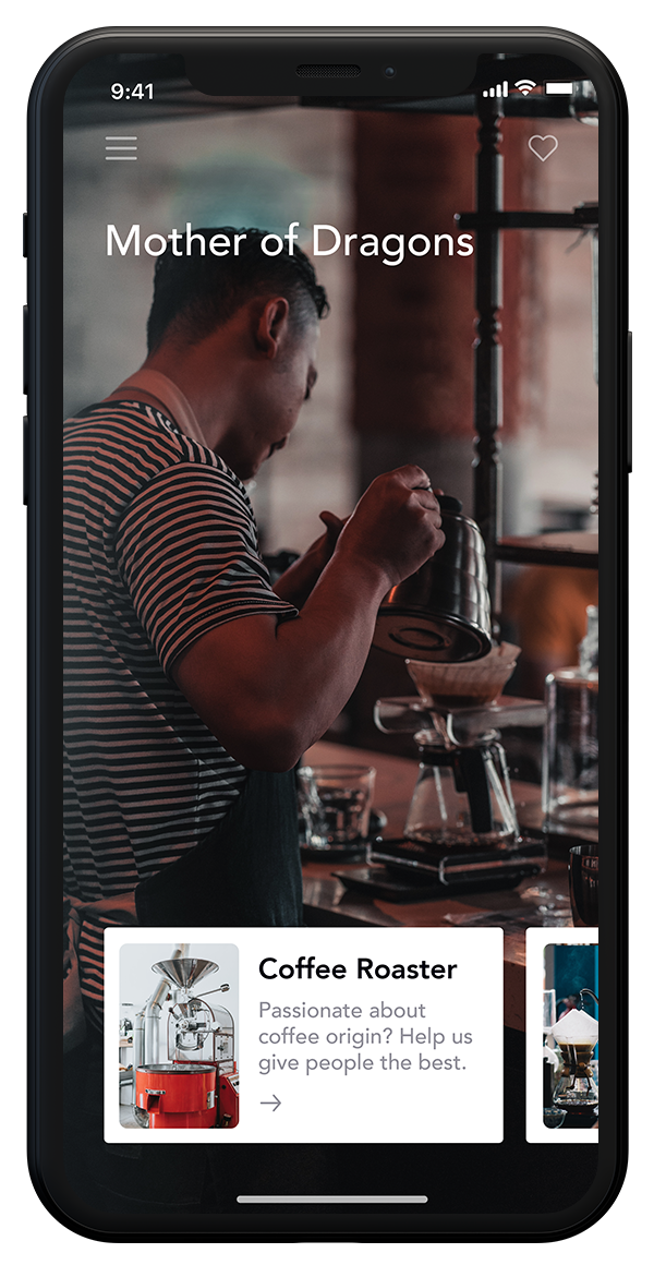 Cafe Jobs iPhone Mockup